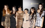 The Kardashians at the Kardashian Kollection Launch Party held at the Colony in Los Angeles, California, United States on August 17, 2011. Copyright 2011 by Adam Gold/iPhoto