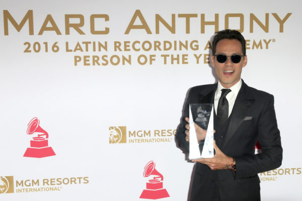 LAS VEGAS - NOV 16:  Marc Anthony at the 2016 Latin Recording Academy Person of the Year at MGM Grand Garden Arena on November 16, 2016 in Las Vegas, NV