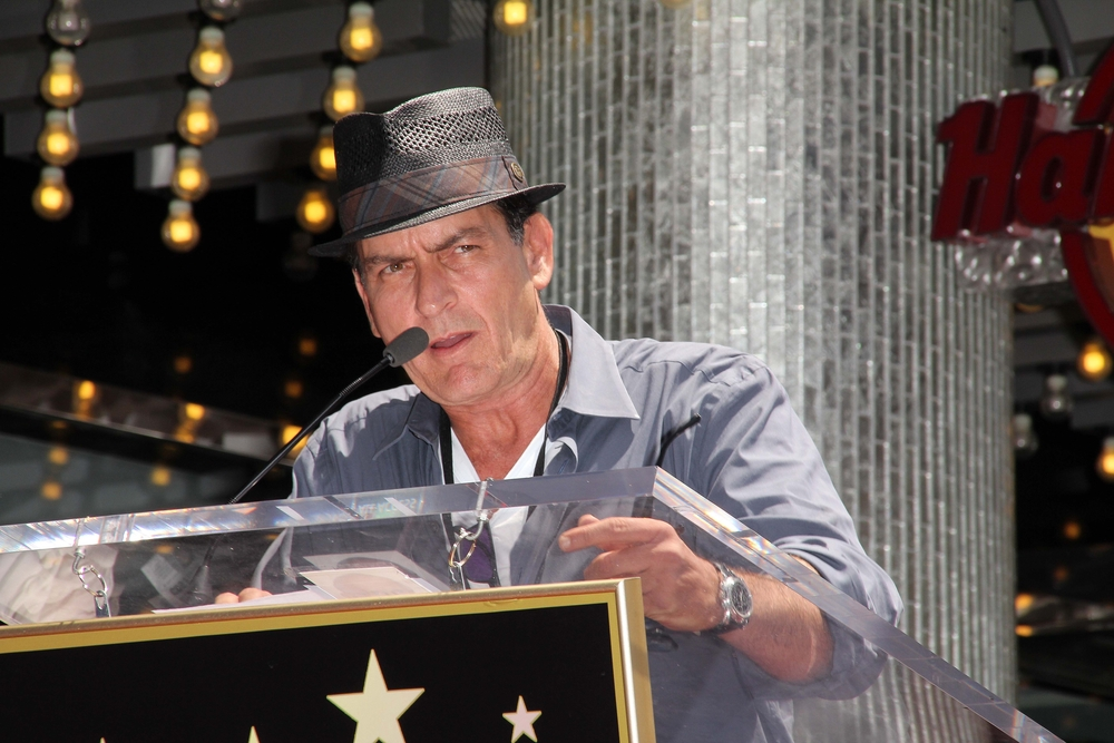 Charlie Sheen at Slash Honored with a Star on the Hollywood Walk of Fame, Hollywood, CA 07-10-12