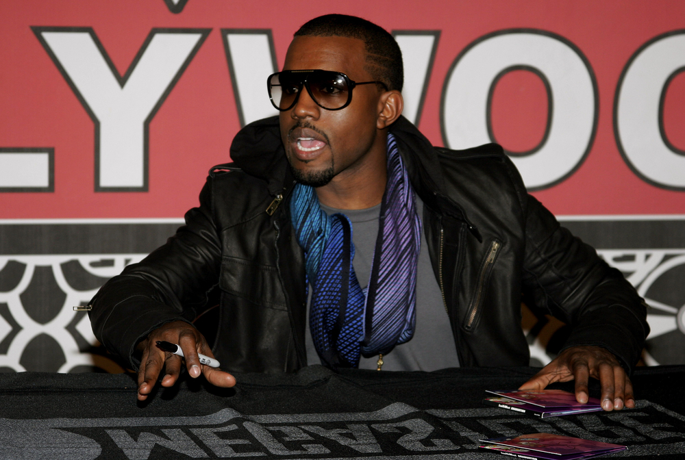 Kanye West attends the in-store signing of his new release 'Graduation' held at the Virgin Megastore Hollywood & Highland in Hollywood, California, United States on September 13, 2007. Copyright 2007 by Popular Images.